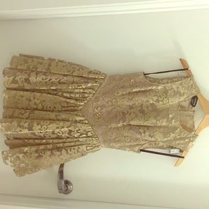 Gold  Embroidered BEBE Semi-formal or Party Dress